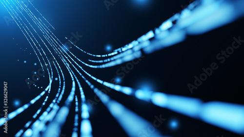 Carta da parati Virtual data transfer in network and internet
