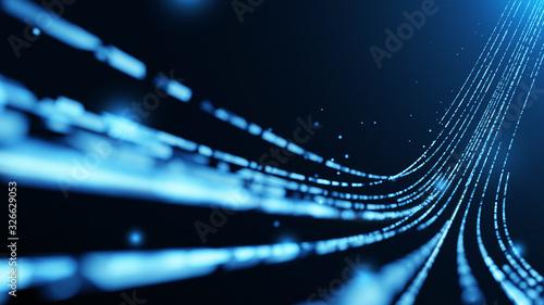 Fotografía Virtual data transfer in network and internet