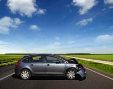 Car Crash Accident On Road