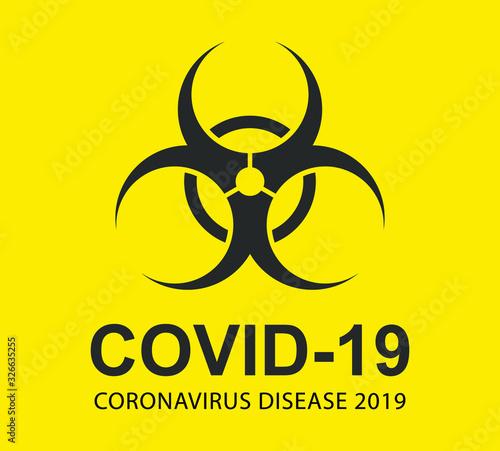 MERS Corona Virus warning icon shape set Canvas Print