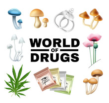 Word Of Drugs Vector Illustrat...