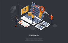 Paid Media Marketing Concept, ...
