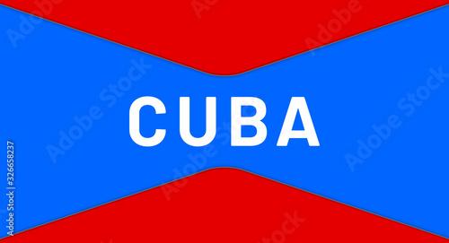 Photo web Label Sticker Cuba