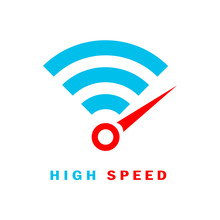 Fast Wi-fi Internet Connection Vector Logo