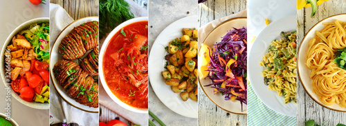 Fotomural Vegetarian food