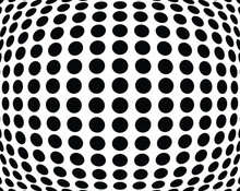 Stripe Circle Vector Background, Abstract Pattern. Radiating Circle Graphics Isolated On White.Design Element For Prints, Web Pages, Template