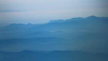 Mountains At Dawn, Aerial View...