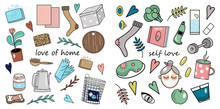 Set Of Stickers About Love Fo...