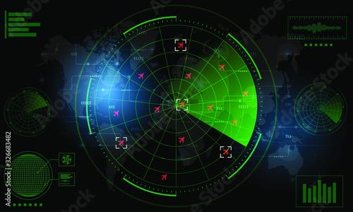 Radar Monitor Canvas Print