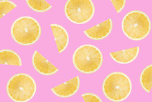 Pattern With Lemon Slices On A...