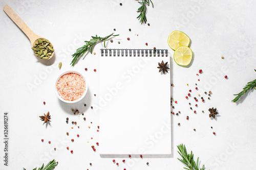 Photo Menu or culinary book template
