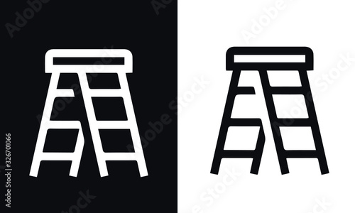 home repair icons vector design black and white Wallpaper Mural