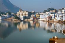 Pushkar In India At Dawn