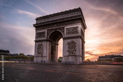 arch of triumph in paris Wallpaper Mural