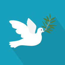 Golden Dove Of Peace With An O...