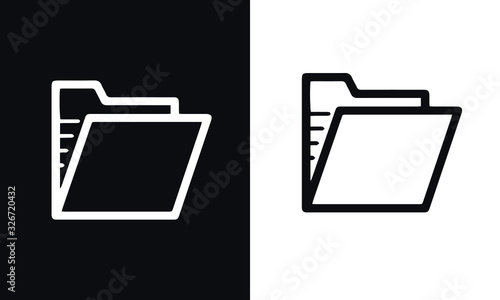 Photo mail line icons set vector design black and white