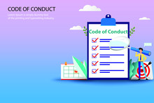 Business Concept Of Code Of Co...