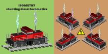 3D Isometric Shunting Four-axl...