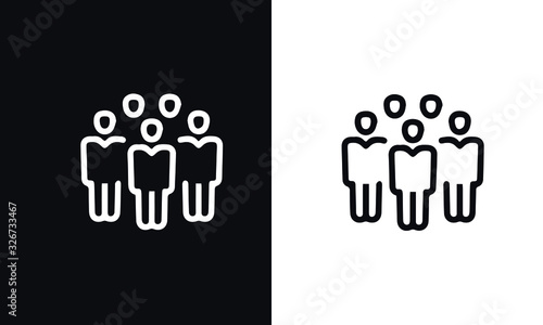Fotografiet start up thin line series icon vector design black and white