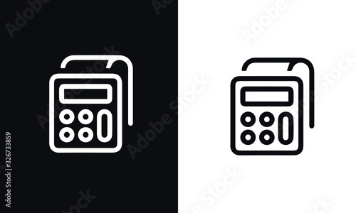 Photo start up thin line series icon vector design black and white