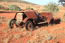 Model T Ford Rusting Away In The South Australian Outback