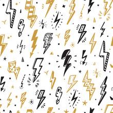 Vector Lightning Bolts Signs S...