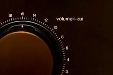 Round Volume Knob For Music Amplifier