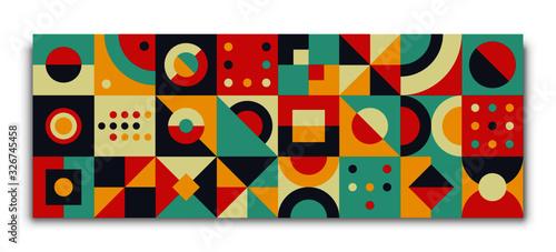 Bauhaus geometric card Wallpaper Mural