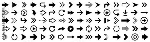 Arrow icons big set. Vector illustration Fototapeta