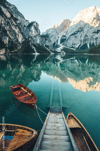 Fototapeta Rowing Boats on the Lake