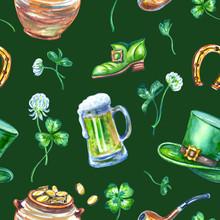 St. Patricks Day Seamless Patt...