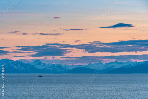 View from cruising the cook inlet from the Anchorage. Canvas Print