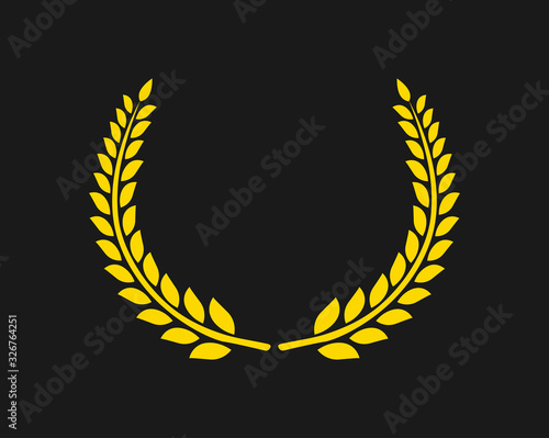 Circular laurel foliate vector icon Fototapeta