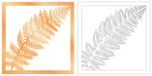 Laser Cut Of Tropical Leaf For...