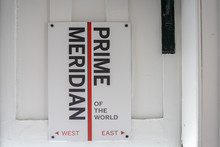Prime Meridian Line.Royal Observatory In Greenwich, London, United Kingdom