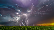 Lighting Storm Captured In The Great Plains