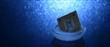 Eingefrorene CPU vor blauem Hintergrund