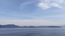 View Of The San Juan Islands From The Anacortes Ferry In Washington