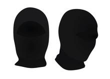 Black Ninja Mask. Vector Illustration