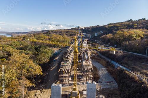 Fototapeta Building the speed railway