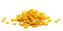 Yellow Cooked Corn Isolated On...