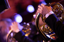 A French Horn Player Playing H...