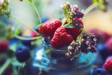 Raspberry Berries And Oregano ...