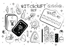 Wicca Set. Witchcraft, Occultism, Green Witch Set.