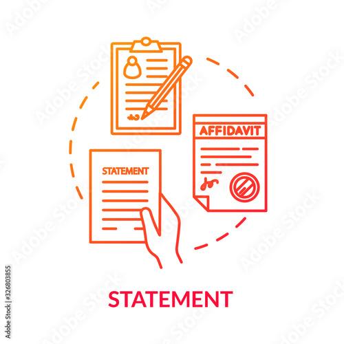 Fotografía Statement red concept icon