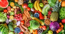 A Variety Of Fresh Fruits, Veg...