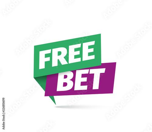 Foto Free bet vector icon
