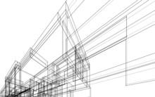 House Building Sketch Architec...