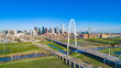 Dallas, Texas, USA Drone Skyline Aerial