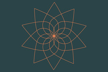 An Abstract Floral Spirograph ...